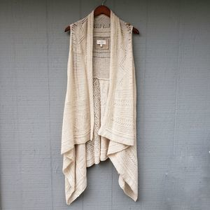 Anthro Angel of the North Cream Knit Vest XS/Sm